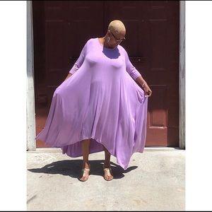 Dresses & Skirts - 💜 3/4 Sleeve One-Size Maxi Dress w/ Pockets!!!